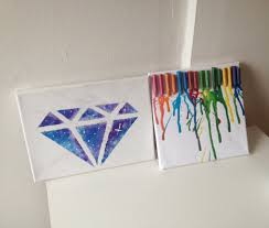 diy room decor crayon art and galaxy diamond youtube haammss