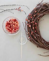 berry wreath pom pom berry wreath martha stewart