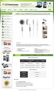 ebay professional design listing template and layout theme green