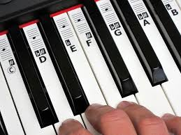 keynotes piano and music keyboard key note stickers with online