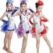kids samba new child tassels sequined dress kids samba