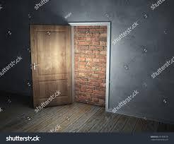 Keyhole Doorway Brick Wall Blocking Doorway Stock Illustration 101339578
