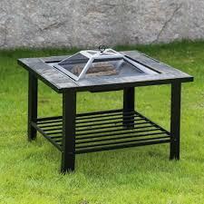 Metal Firepit Shop For Kinbor 30 Outdoor Pit Square Metal Firepit Backyard