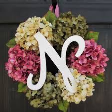 monogram wreaths initial wreaths personalized wreaths letter