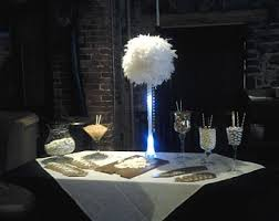 Centerpiece With Feathers by Ostrich Feather Centerpiece With 16