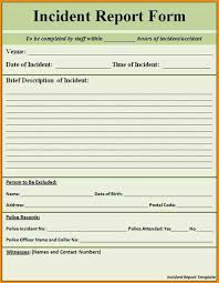 patient incident report form template 10 incident report template word free and use