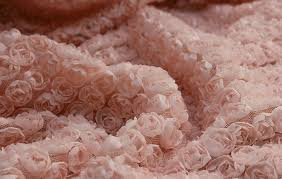sale 3d pink rosette fabric photography mesh fabric wedding bridal