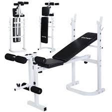 training benches costway olympic folding weight bench incline lift workout training