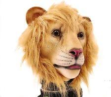 lion halloween masks costume latex animal head mask for party