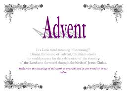 is a word meaning the coming during the season of advent