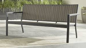 Crate And Barrel Outdoor Furniture Covers by Alfresco Grey Outdoor Sofa Crate And Barrel