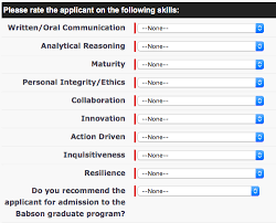babson olin mba recommendation questions 2015 2016 clear admit