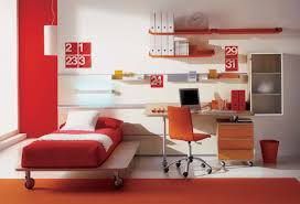 Interior Design For Kids by Kids Bedroom Images With Simple Single Bed With A Wheel And Orange