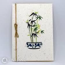 Design For Vase Painting Bamboo In Chinese Vase Greeting Card With Chinese Painting Design