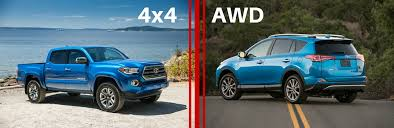 all wheel drive toyota cars which is better four wheel drive or all wheel drive toyota of