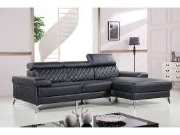 canapé pvc angle canapé d angle en cuir reconstitué pvc houston 4 places noir