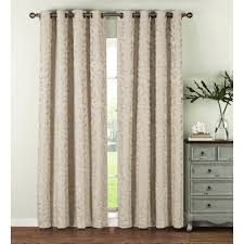 108 In Blackout Curtains by Window Elements Semi Opaque Alpine Textured Woven Leaf 54 In W X