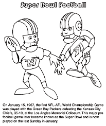green bay packer coloring pages first super bowl football game coloring page crayola com