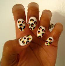 cheetah print acrylic nail designs u2013 slybury com
