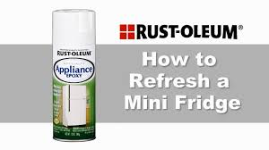 how to refresh a mini fridge with rust oleum specialty appliance