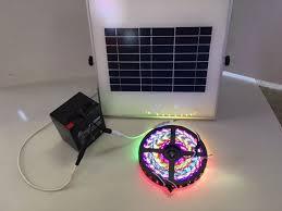 solar powered 5050 rgb led light kit 44 key remote