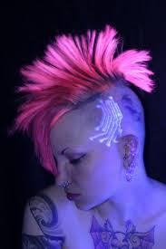 amazing black light chip tattoo design on head u2013 truetattoos
