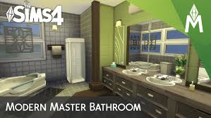 Modern Master Bathrooms The Sims 4 Room Building Modern Master Bathroom Youtube