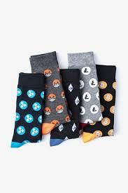 pattern black silk pack sock packs