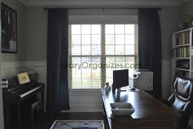 Office Curtain by Curtains For Home Office Organization The Reveal E Decorating Ideas
