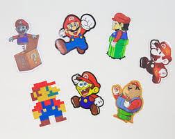 super mario brothers stickers cool vinyl sticker collection