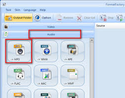download mp3 from page source convert audio into mp3 format with format factory