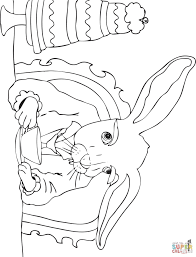 the mad march hare coloring page free printable coloring pages