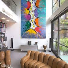 large modern art for sale and big abstract paintings by swarez