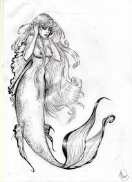 beautiful mermaid drawing drawing art library