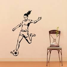 soccer wall decals football player sport people gym decal