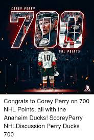 Anaheim Ducks Memes - co a e pear perry n hl points nhlpa congrats to corey perry on 700