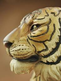 tiger bust statue resin animal feng shui and
