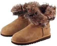 ugg s meadow boots ugg australia meadow boots 1008043 sz 5 chestnut w toscana fur