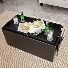 storage ottoman coffee table with trays amazon com hartley coffee table storage ottoman with tray side