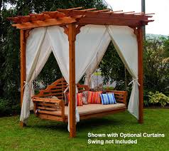 elegant western red cedar pergola with swing hangers the rocking