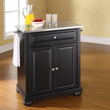 crosley furniture alexandria stainless steel top portable kitchen