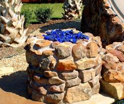 Fire Pit Glass Beads by Delightful Patio Ideas Round Propane Fire Pit Table With Stone