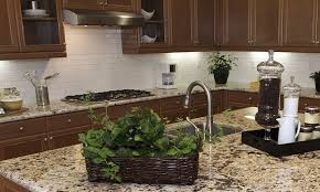 Rusty Brown Slate Mosaic Backsplash by Copper Rust Slate Tile How To Refinish Kitchen Cabinets That Are