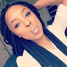 loose braid hairstyle for black women box braids hairstyles for black women