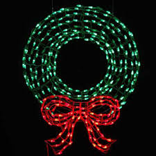 36 led lighted metal wreath with bow sculpture american sale