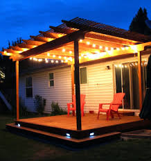 String Lights On Patio Uncategorized Outside Step Lights In Impressive Patio Ideas