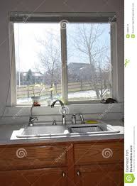 modern kitchen windows modern kitchen window and cabinets royalty free stock photography