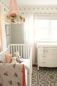 White And Pink Nursery Curtains And Gray Nursery Reveal Nursery And Gray