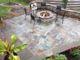Ideas For Concrete Patio Pictures Of Concrete Patio Ideas With Fire Pit Landscaping