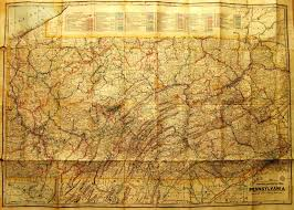Maps Of Pa Pennsylvania In Early Pocket Maps